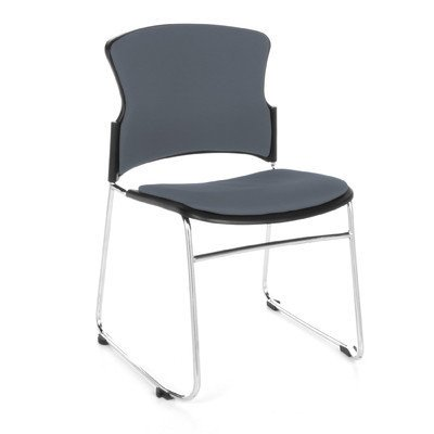 Ofm Multi Use Armless Stacking Chair Seat Gray
