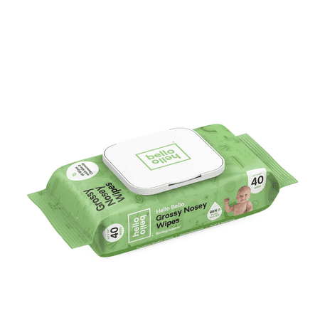 Hello Bello Grossy Nosey Wipes, 40ct