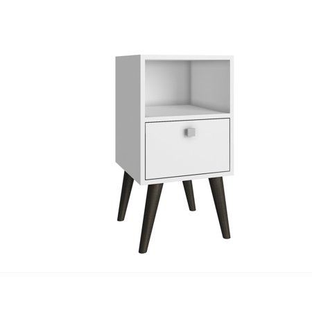 Abisko Side Table with 1 shelf in White 1 Side Shelf