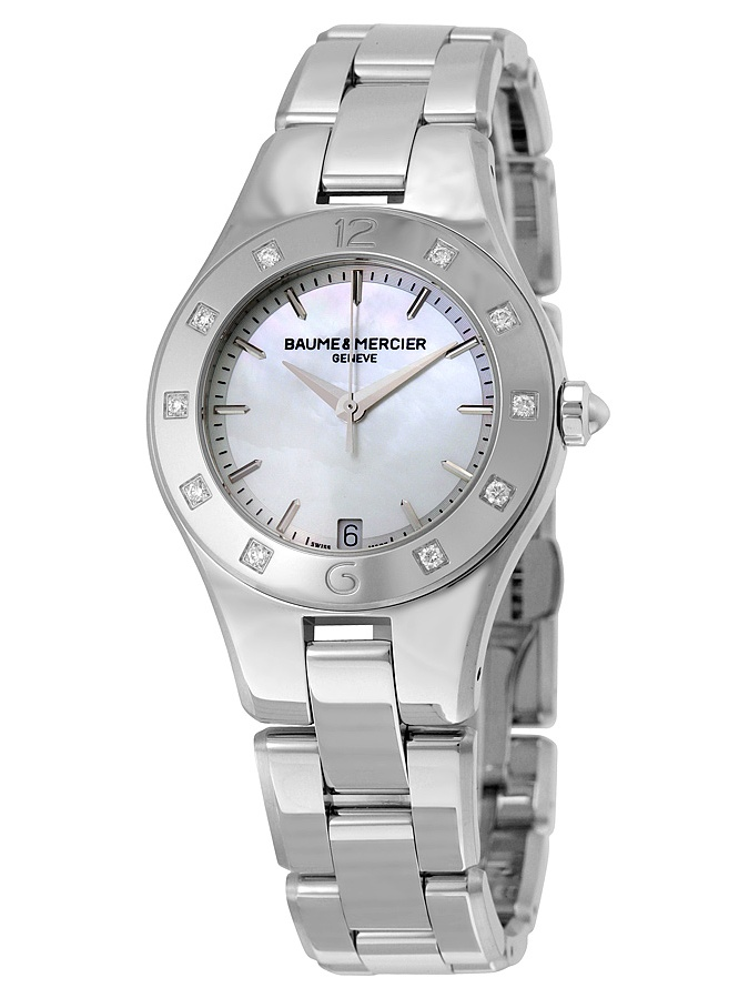 Baume and Mercier Linea Mother of Pearl Diamond Ladies Watch 10071