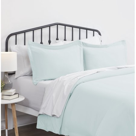 Noble Linens 3 Piece Solid Duvet Cover Set ()