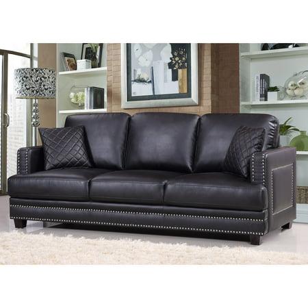 Meridian Furniture Inc Ferrara Nailhead Sofa