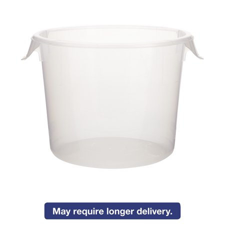 Rubbermaid Commercial Round Storage Containers, 6 qt, 10dia x 7 5/8h, - Round Storage Bins