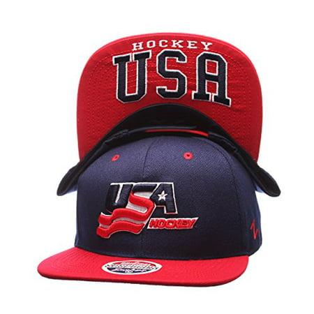 Flat Bill Baseball - USA Hockey Team
