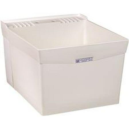 Utilatub 18-Gallon Wall-Mount Laundry/Utility Tub, 34 X 20 X 24 In., White