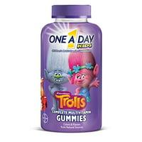 6 Pack One A Day Kids Trolls Gummies 180 Count Each