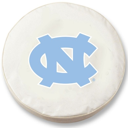 NCAA Tire Cover by Holland Bar Stool - UNC Tar Heels, White - 31.25'' x 12''