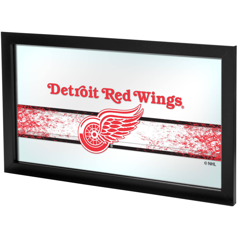 NHL Framed Logo Mirror, Detroit Redwings