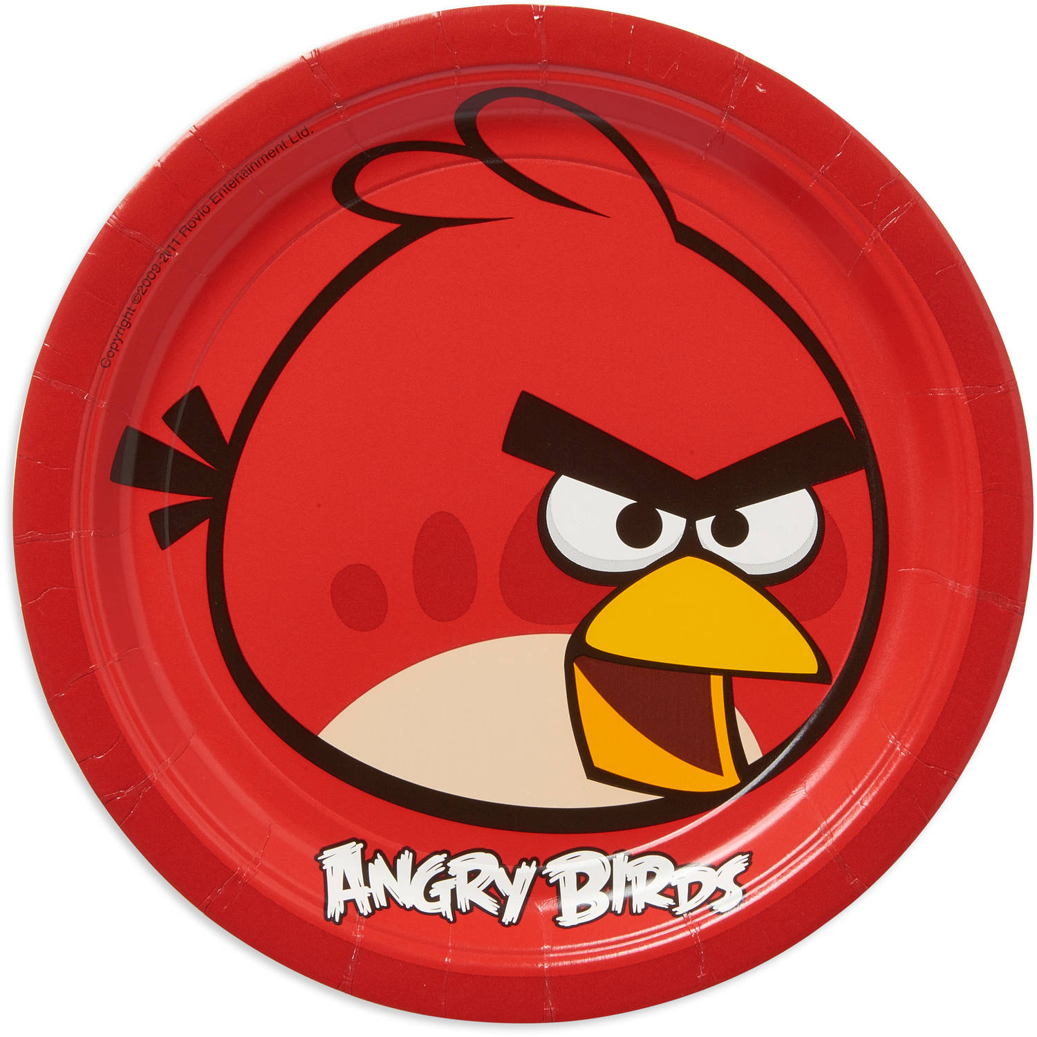 "Angry Birds 9"" Round Plate, 8 Count, Party Supplies"