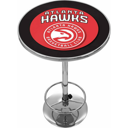 "Trademark NBA Atlanta Hawks 42"" Pub Table, Chrome by"