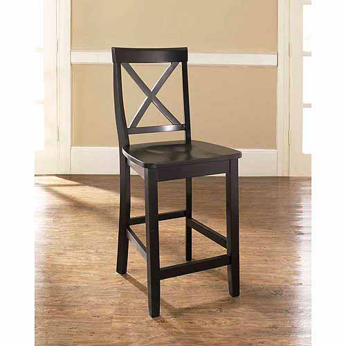 """Crosley Furniture X-Back Bar Stool with 24"""" Seat Height, 2pk"""