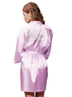 Product Image Turquaz Linen Satin Kimono Rhinestone Mother of The Bride Robe  (Small Medium a4df0bbf2