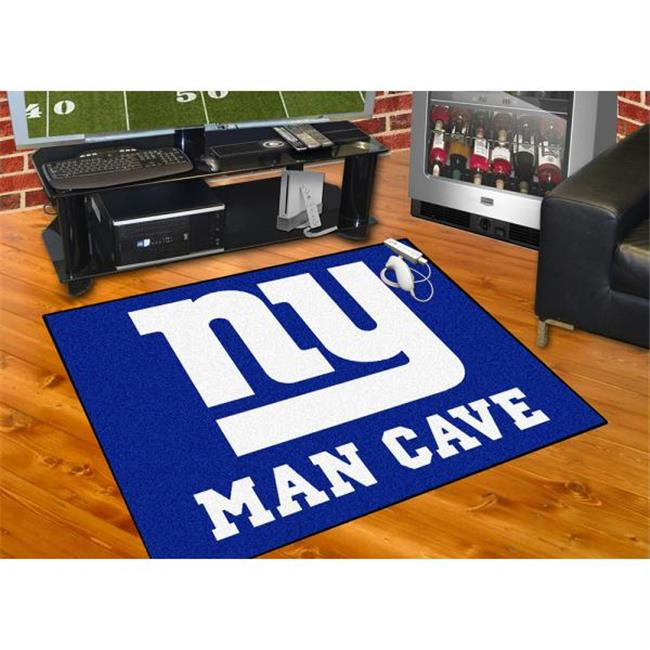 Fan Mats FAN-14340 New York Giants NFL Man Cave All-Star Floor Mat - 34in x 45in