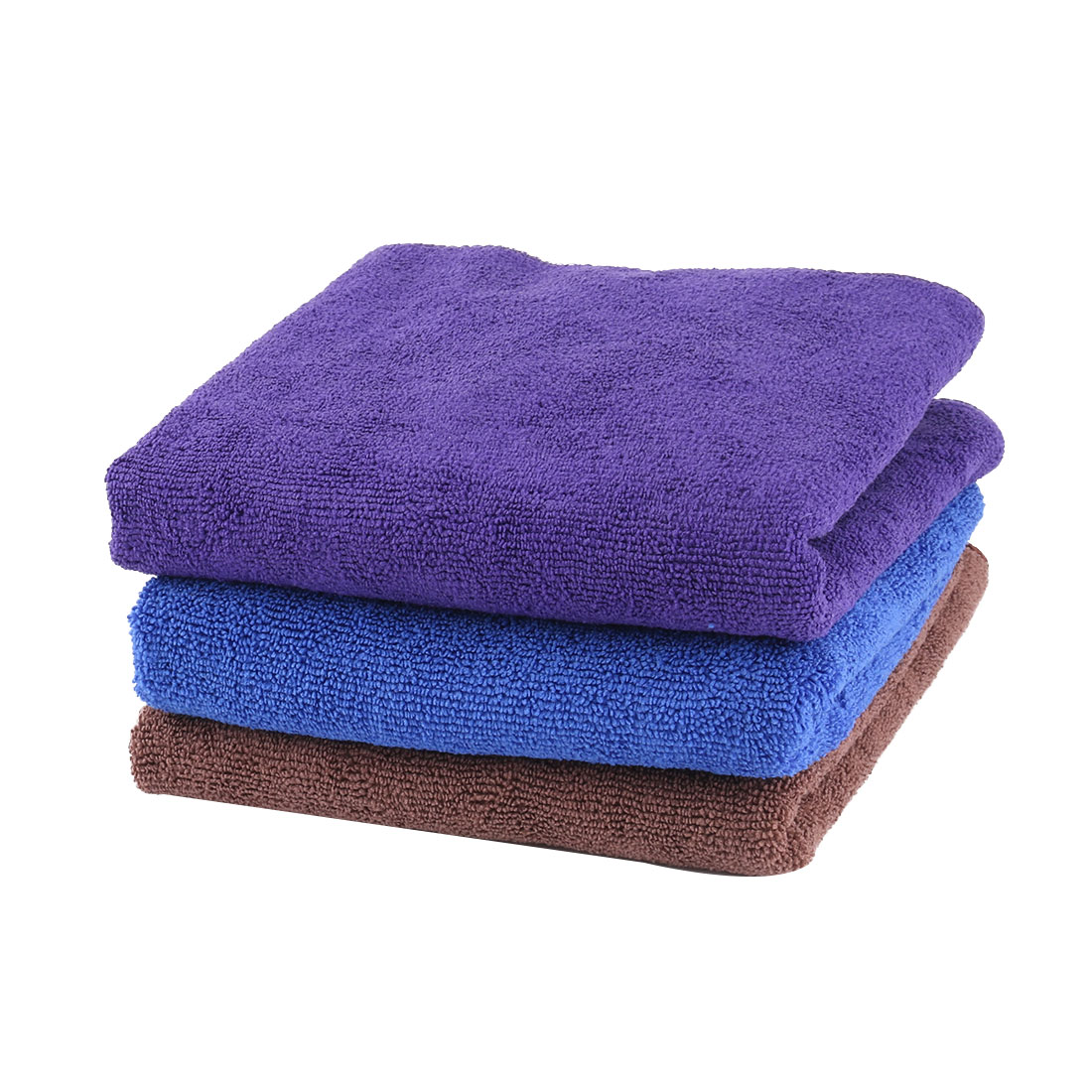 Family Microfiber Rectangle Car Window Drying Washing Cloth Cleaning Towel 3pcs