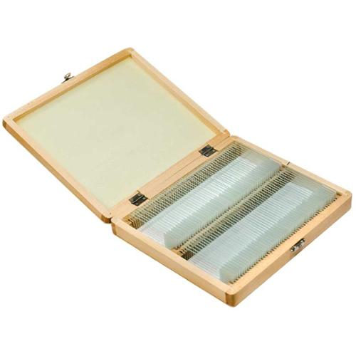 Barska  100 Prepared Microscope Slides and Wooden Case