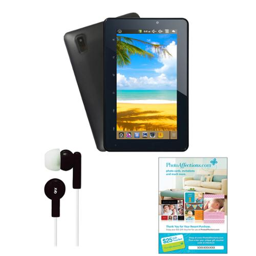 """Supersonic 7"""" Android 4.1 Touch Screen Tablet with Earbuds and $25 Voucher"""