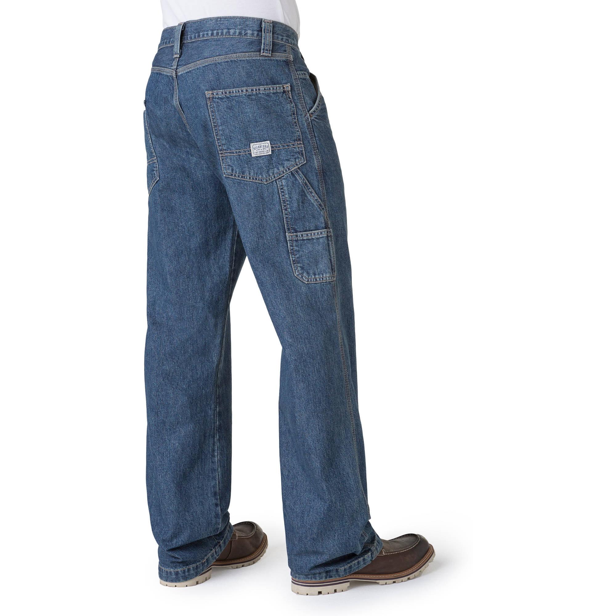 Signature by Levi Strauss & Co. Men's Carpenter Jeans - Walmart.com