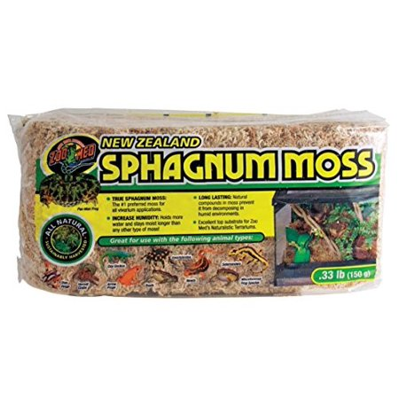 Zoo Med New Zealand Sphagnum Moss Terrarium Substrate, 5.28 Oz