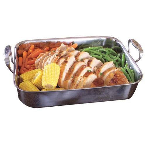 PRIMO 8165-60 Rectangle Buffet Roaster, 6 qt, Silver