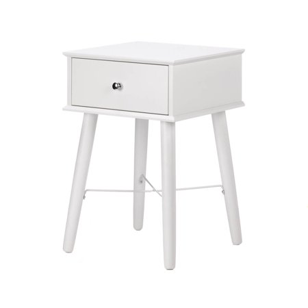 Side Table White, Mdf Wood Small Side Tables Living Room