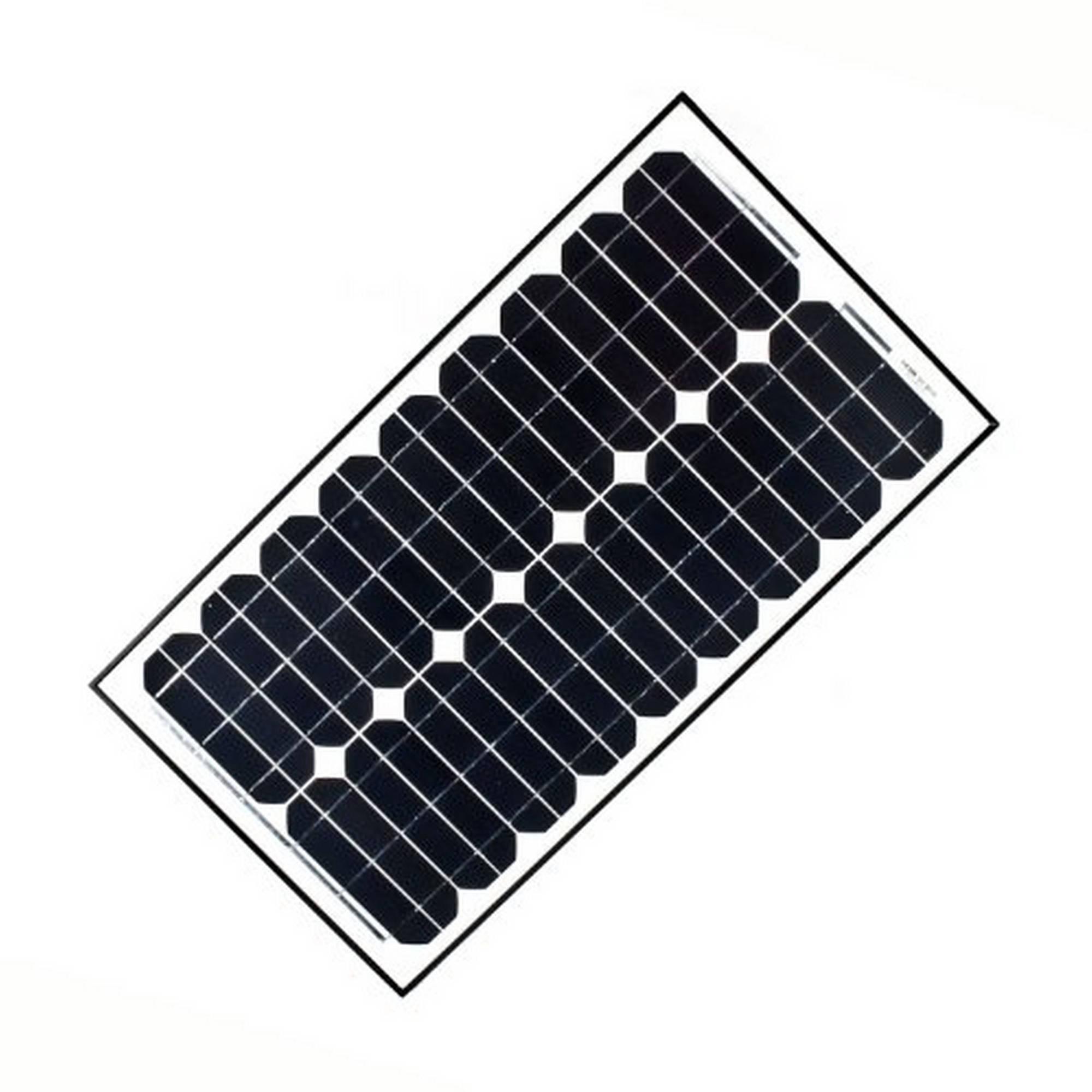 ALEKO Solar Panel Monocrystalline 30W for any DC 12V Application (gate opener, portable charging system, etc.)