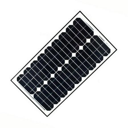 ALEKO Solar Panel Monocrystalline 30W for any DC 12V Application (gate opener, portable charging system,