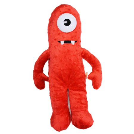 Yo Gabba Gabba! Muno Kids Plush Toy w/Secret Zipper Pocket (17in)