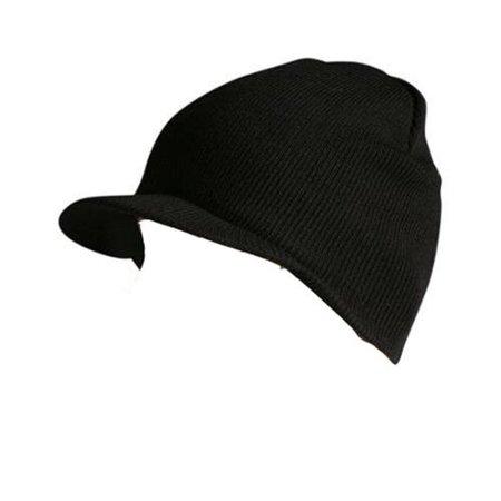 4551478cfe1 Knit Cuffless Visor Beanie Ski Cap Hat In Black - Walmart.com