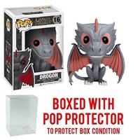Funko Pop! Game of Thrones: GOT - Drogon #16 Vinyl Figure (Bundled with Pop BOX PROTECTOR CASE)