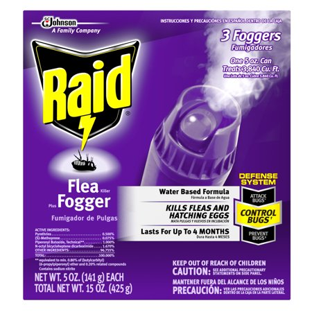Raid Flea Killer Plus Fogger, 15 Oz (1 Ct) (Total Release Flea Fogger)