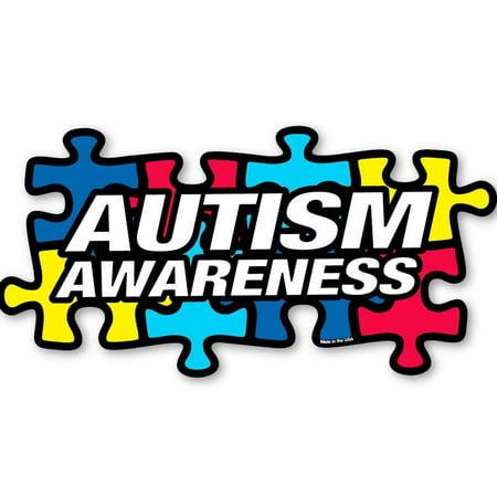 1 Autism Awareness Puzzle Piece Car Truck Bumper Magnet Refrigerator Decal New