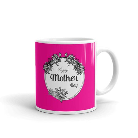 Happy Mother's Day with Round Floral Coffee Tea Ceramic Mug Office Work Cup Gift 11