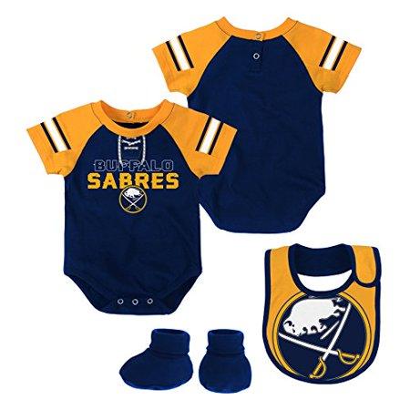 Nhl Buffalo Sabres Newborn   Infant  Little D Man  Onesie  Bib   Bootie Set  18 Months  True Navy