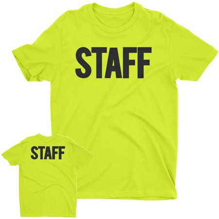 NYC FACTORY Men's Staff T-Shirt Front Back Print Tee Event Uniform Screen Printed Tshirt (Neon, 2XL)](Cool Halloween Events Nyc)
