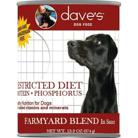Dave's Pet Food Restricted Diet Grain-Free Protein-Phosphorus Farmyard Blend Wet Dog Food, 13.2 (Daves Pet Food Restricted Diet Protein And Phosphorus)