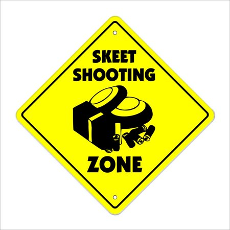Skeet Crossing Decal Zone Xing | Indoor/Outdoor | 4