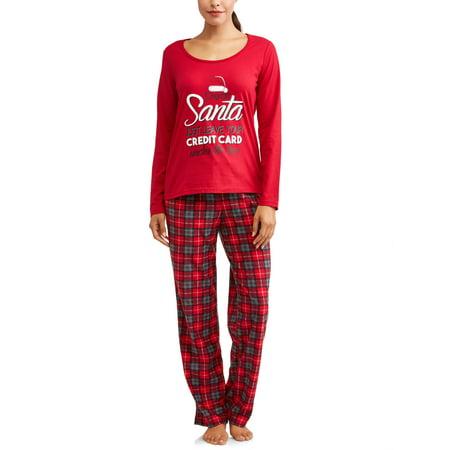 70c633c1c8b6 Family PJs - Family PJs Holiday Family Sleep Women s Plaid Santa ...