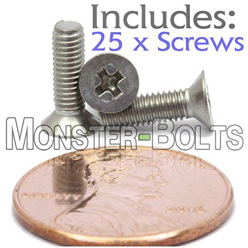 10mm M3 Flat Head Countersunk Screw Kit,M3 4mm//5mm//6mm//8mm//10mm Stainless Steel Machine Countersunk Screws Bolt Fastener Pack of 100