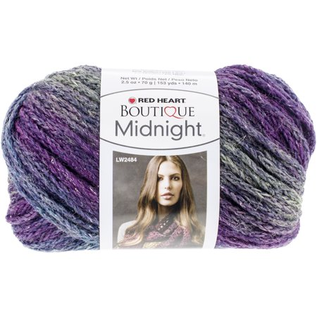 Knitting Patterns For Red Heart Boutique Midnight : Red Heart Boutique Midnight Yarn-Aura - Walmart.com