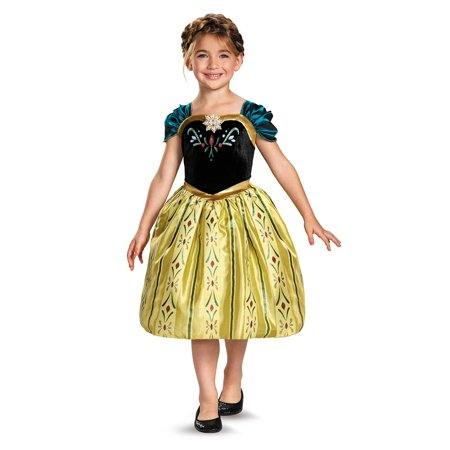 Childs Girls Disney Classic Frozen Anna Coronation Gown Costume (Adult Disney Costume Ideas)