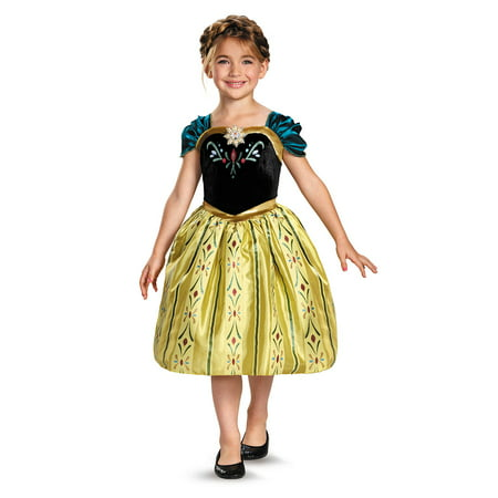 Childs Girls Disney Classic Frozen Anna Coronation Gown Costume (Disney Characters Homemade Costumes)