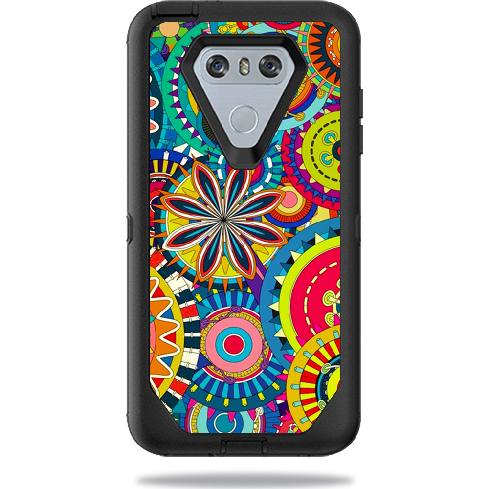 MightySkins Protective Vinyl Skin Decal for OtterBox Defender LG G6 Case sticker wrap cover sticker skins Flower Wheels