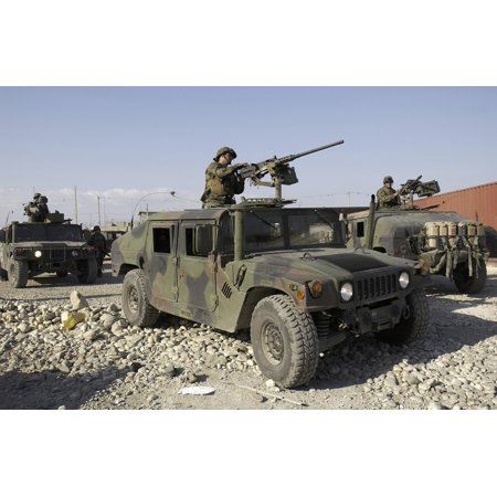Us Marines On Patrol At The Port In Port Au Prince Haiti Canvas Art   Stocktrek Images  35 X 23
