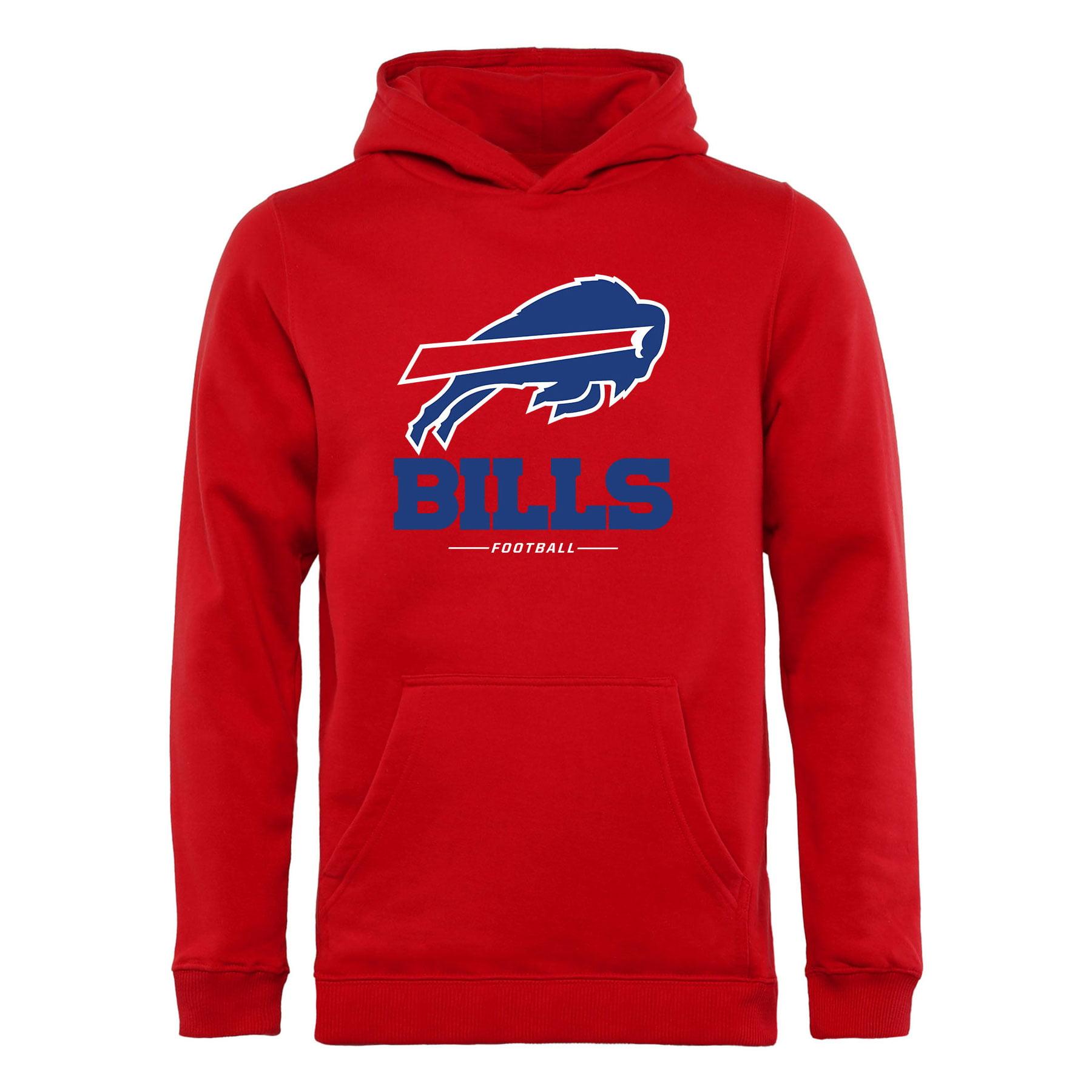 Buffalo Bills NFL Pro Line Youth Team Lockup Hoodie - Red