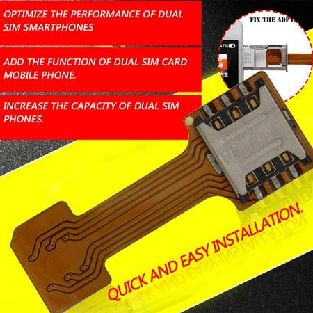 Universal Hybrid SIM Card Slot Dual SIM Card Adapter Extender Nano to Nano - image 9 of 10