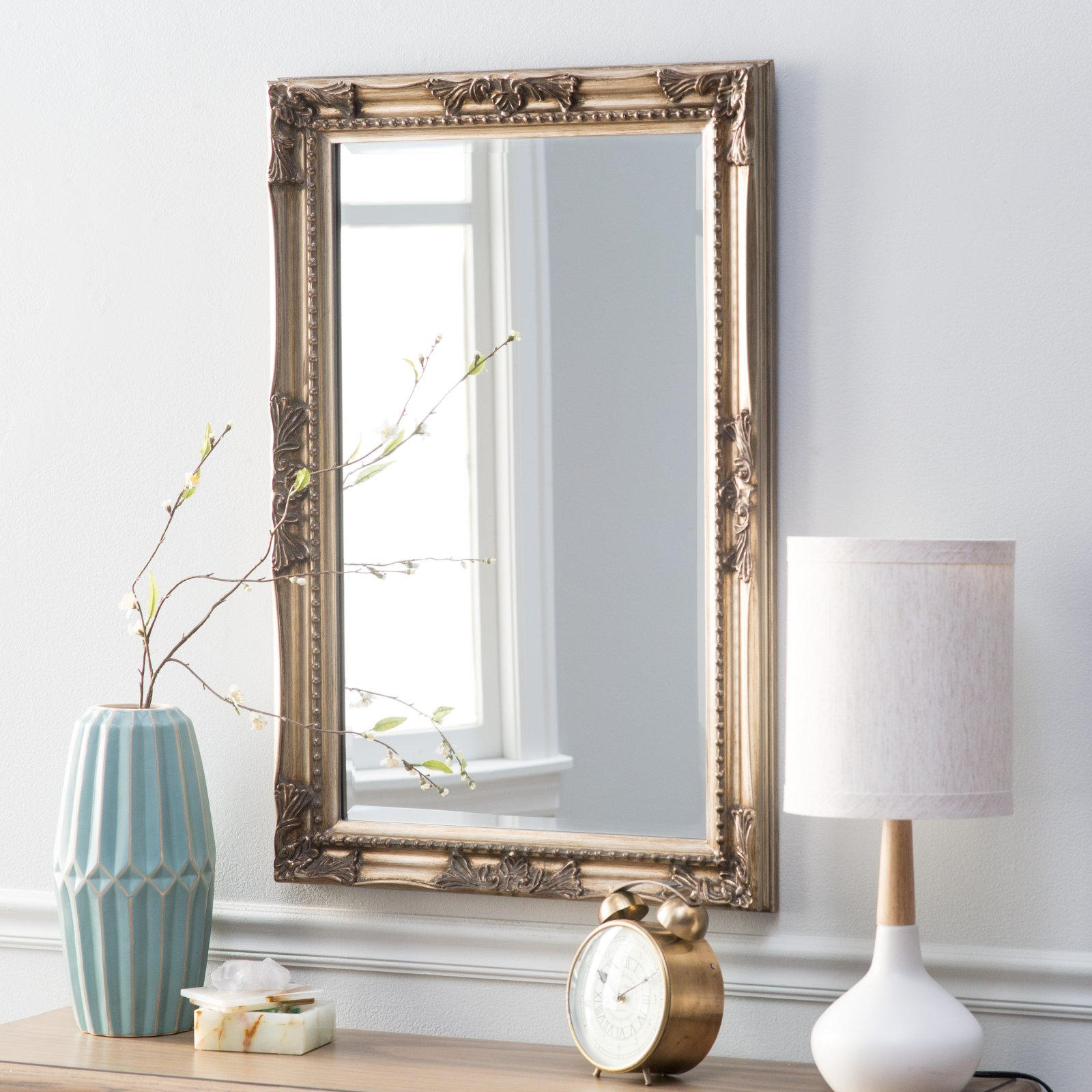 Belham Living Queen Anne Rectangle Wall Mirror by Howard Elliott