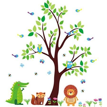 safari animal decals - nursery wall decals - jungle themed nursery