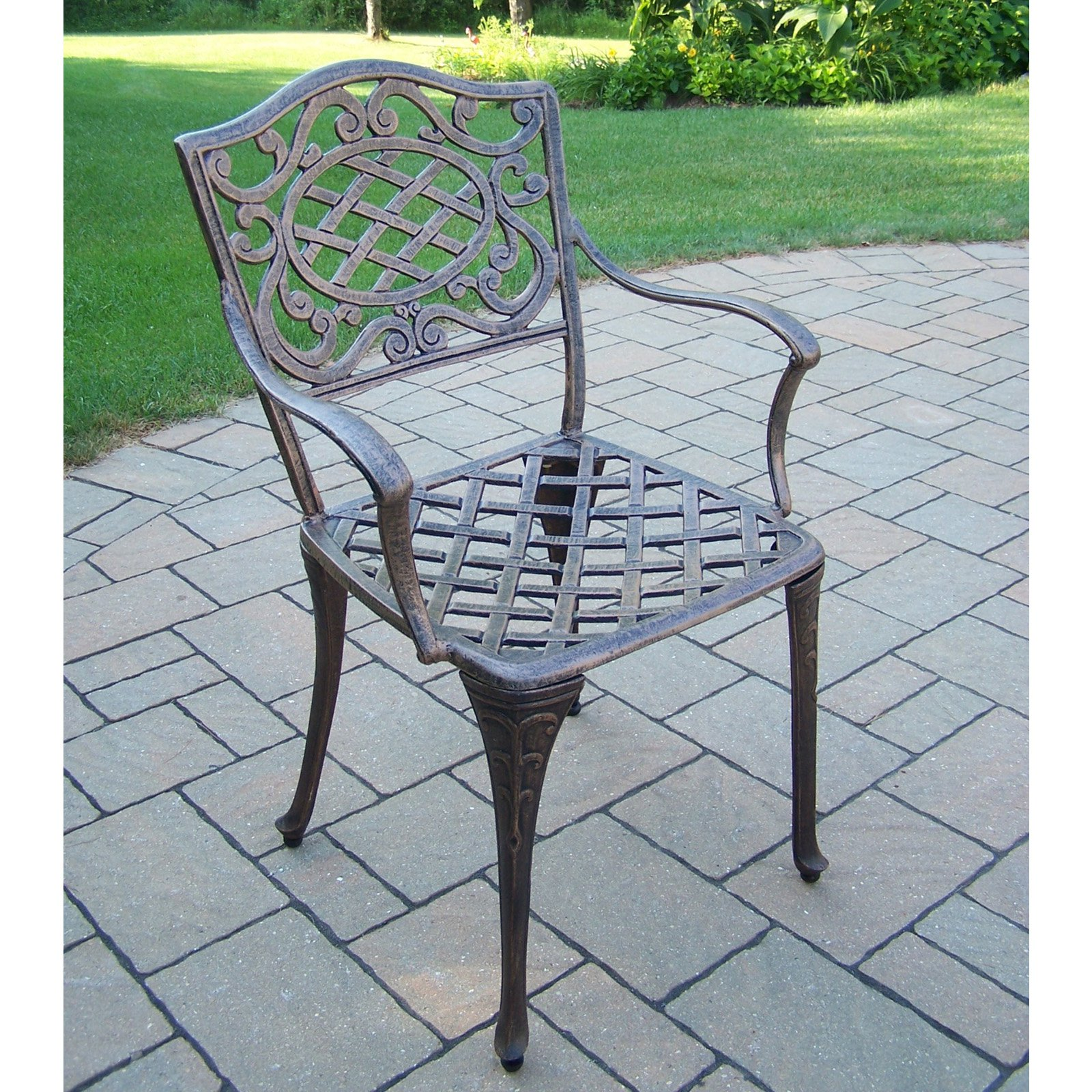 Oakland Living Mississippi Dining Arm Chairs (Set of 2)