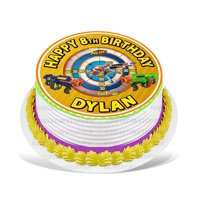 Nerf Guns Edible Cake Image Topper Personalized Picture 8 Inches Round