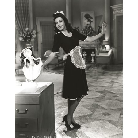 Ann Miller wearing a Maid Outfit in a Classic Portrait Photo Print](German Maid Outfit)
